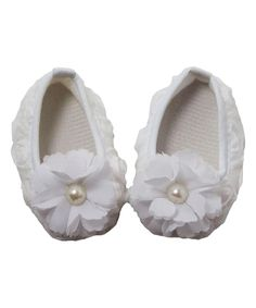 This Dress Up Dreams Boutique White Bloom Textured Booties by Dress Up Dreams Boutique is perfect! #zulilyfinds