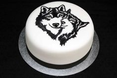 Hand painted Wolf Cake