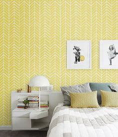 Self adhesive vinyl wallpaper Herringbone pattern par Betapet