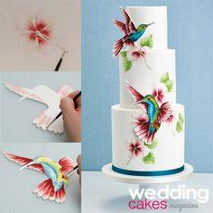 Cakes & Sugarcraft (@sugarcraftmag) | Twitter So pretty i love the idea of simply painga on flat fondant