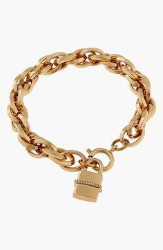 Rachel Zoe 'Gavriel' Padlock Charm Bracelet available at #Nordstrom