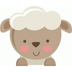 Silhouette Design Store: Miss Kate Lamb Cute Images, Cute Pictures, Sheep Face, Eid Crafts, Cute Sheep, Baby Clip Art, Cute Clipart, Farm Birthday, Farm Party