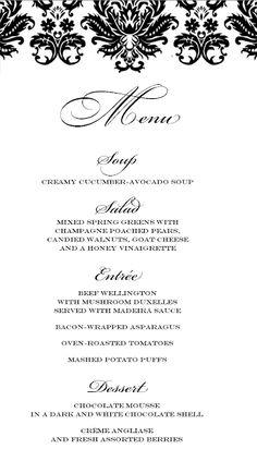 Stranded In Cleveland Elegant Dinner Party Menu Beef Wellington Design Birthday