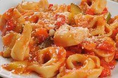 Τορτελίνια με σάλτσα λαχανικών!!