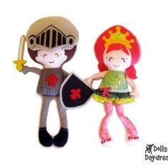 Dolls And Daydreams / Princess & Knight Sewing Pattern