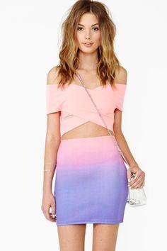 Rainbow Fuse Skirt (+ the outfit) #NastyGal