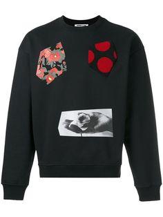 MCQ BY ALEXANDER MCQUEEN multi-print sweatshirt. #mcqbyalexandermcqueen #cloth #sweatshirt