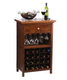 Winsome Vicenza Wine Table with Glass Storage - Wine Furniture at Hayneedle Wine Rack Table, Wine Glass Rack, Wine Racks, Glass Bottle, Wine Furniture, Unique Furniture, Rustic Furniture, Kitchen Design Program, Affordable Kitchen Cabinets