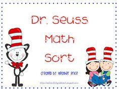 Free!!! Dr. Seuss Sooooo Cute math sort...8 pages!