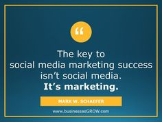 Marketing is the key to social media marketing success.