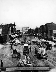 Larimer Street in Denver, c. 1880s by Charles Weitfle: History Colorado Collection
