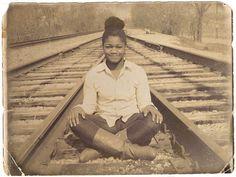 04-06-13  Railroad tracks / Jackson Tn fixed to look like an old photo
