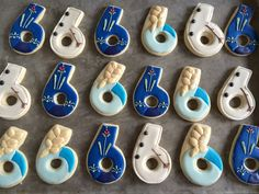 Disney Frozen Birthday Number Sugar Cookies by BettaBakery on Etsy, $30.00