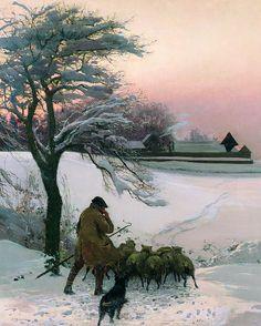 y<3  The Shepherd by EF Brewtnall,  1886