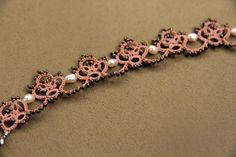 Tatting lace bracelet pdf pattern by TheKimAndI on Etsy