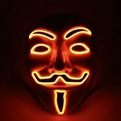 Orange Light Up Vendetta Mask