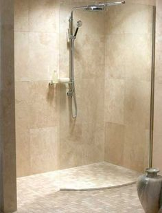 Ideas For Bath Room Shower Fixtures Wet Rooms Small Shower Room, Master Bathroom Shower, Small Showers, Beige Bathroom, Simple Bathroom, Bath Shower, Bathroom Closet, Bathroom Showers, Bathroom Canvas