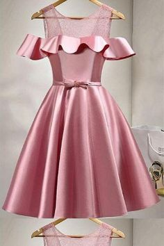 Homecoming Dresses A-Line #HomecomingDressesALine, Pink Homecoming Dresses #PinkHomecomingDresses, Pink Prom Dresses #PinkPromDresses, Prom Dresses 2019 #PromDresses2019, A-Line Prom Dresses #ALinePromDresses