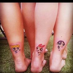 Power Puff Girls Tattoo girly leg