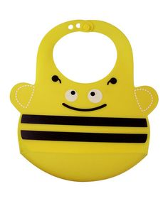 Look what I found on #zulily! Yellow Busy the Bee Adjustable Bib #zulilyfinds