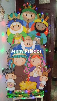 NACIMIENTO Christmas Yard Art, Christmas Door Decorations, Christmas Candle, Christmas Nativity, Christmas Wood, Christmas Projects, Christmas Time, Nativity Crafts, Diy Weihnachten