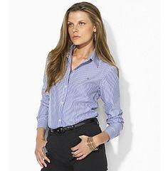 Product: Lauren Ralph Lauren® Striped Wrinkle-Free Dress Shirt