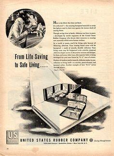 1945 United States Rubber Company Original Print Ad