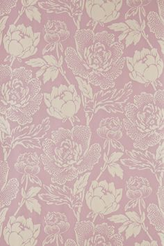 Background - Purple and white flowers Farrow & Ball Peony Wallpaper.
