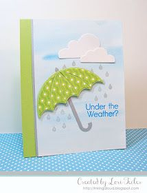 card umbrella, Under the Weather card-designed by Lori Tecler/Inking Aloud-stamps and dies from My Favorite Things Homemade Greeting Cards, Greeting Cards Handmade, Homemade Cards, Paper Cards, Diy Cards, Weather Cards, Under My Umbrella, Umbrella Girl, Umbrella Cards