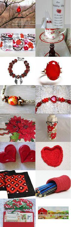 Red Somewhere by Honeycomb Greetings on Etsy @etsy #red #etsytreasury #spiritualelegteam