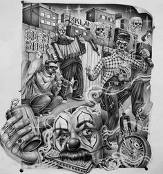 Chicano Tattoos Gangsters, Chicano Art Tattoos, Chicano Drawings, Chicano Lettering, Lowrider Tattoo, Arte Lowrider, Chest Tattoo Drawings, Tattoo Design Drawings, Mr Cartoon Tattoo
