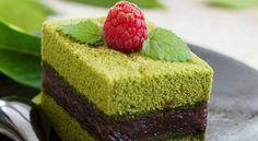 Angel cake bayadère au thé matchaAngel cake bayadère au thé matcha