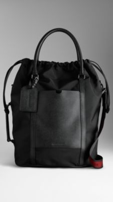 London Leather Nylon Tote Bag