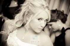 The stunning Bride in her Wedding Gown.  Photo By Erica Mendenhall Photography  www.ericamendenhallphotography #weddingphotographer #weddingphotography #westernwedding #bridalgown  #bride  #palmsprings #ranchomirage  #veil  #rancholaspalmas #weddingdress #longhair #curls