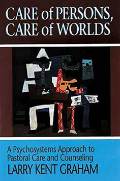 Care of Persons, Care of Worlds: A Psychosystems Approach to Pastoral Care and Counseling by Larry Kent Graham. A comprehensive social and systemic foundation for pastoral and caretaking that will be an invaluable guide for the activities of parish ministers and counseling practitioners. Graham's model better interprets and responds to the interplay between individuals and the larger cultural and environmental realities which contribute to their distress and its transformation.