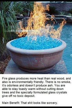 Fire glass home decor gorgeous addition for around an inground pool