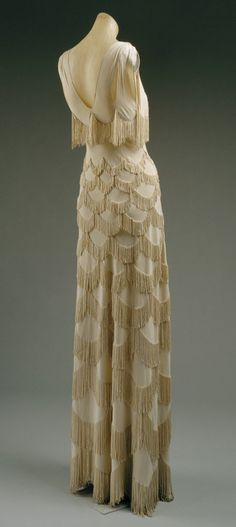 Vintage Evening Dress ♥ 1920's Style Fringe Wedding Dress