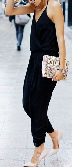 Black Dress and Skirt Look