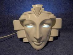 Vintage Art Deco Anthropomorphic Face Wall Sconce Lamp Vandor Pelzman | eBay