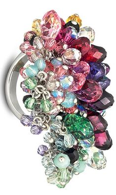 Swarovski Crystal Cluster Ring