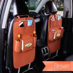 Made of felt cloth material, comfortable, prevent the generation of static electricity.Designed to fit most vehicles.Not only an back seat organizer, but also a