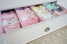 Project Nursery - Drawer Dividers to Organize Baby Clothes by Size