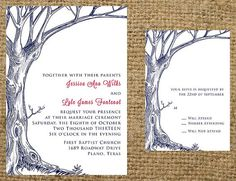 Favorite PRINTABLE Bare Rustic Tree Wedding Invitation by NotableAffairs, $35.00