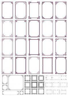 Vintage Retro Ornamental Frames Free Vector Cdr Download 3axis Co Vector Free Ornament Frame Retro Vintage