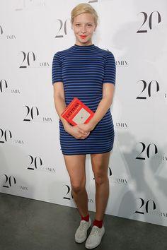Annabelle Dexter Jones. mini dress. socks. sneakers.