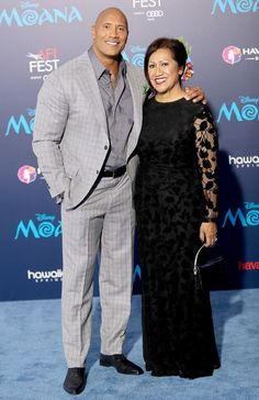 "<p>The Rock (aka Dwayne Johnson) took his beloved mother, Ata Johnson, to the Hollywood premiere of <i>Moana</i>. His sweet relationship with his mom is just one of the many reasons Johnson was named <a rel=""nofollow"" href=""https://www.yahoo.com/celebrity/5-times-sexiest-man-alive-dwayne-the-rock-johnson-rocked-our-world-232232197.html""><i>People</i>'s Sexiest Man Alive</a> on Tuesday. (Photo: David Livingston/Getty Images) </p>"