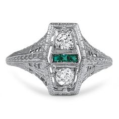 Okay this one is blindingly stunning from the 1920s - The Integra Ring from Brilliant Earth