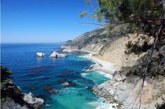 The cove at Julia Pfeiffer Burns State Park in Big Sur, California #virtualtourist