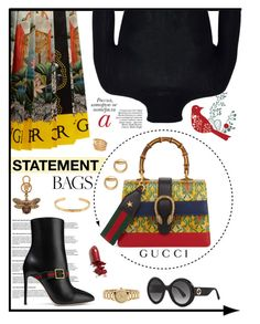"""""""Carry On: Statement Bags #231"""" by emydeishly ❤ liked on Polyvore featuring Gucci, Paolo and LAQA & Co."""