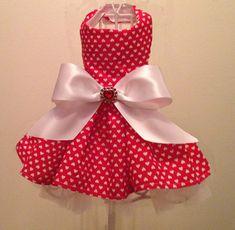 Valentine Hearts Dog Dress